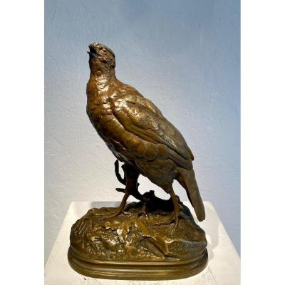 Bronze  Perdrix  Par Alfred Dubucand (french, 1828–1894)