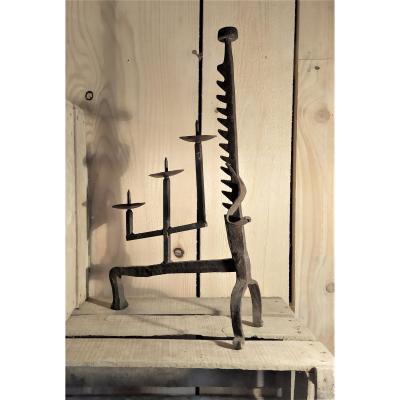 Candlestick, Wrought Iron