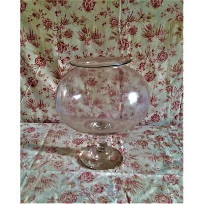 Leech Jar, Blown Glass, 19th,
