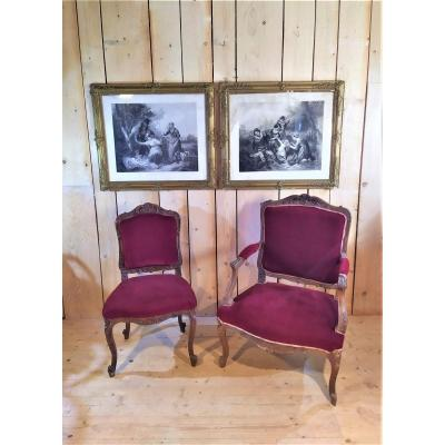 Armchair With The Queen And Her Chair, Nineteenth