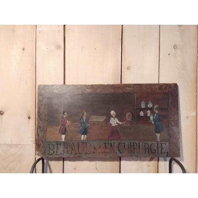 Painted Wood Panel: Sign