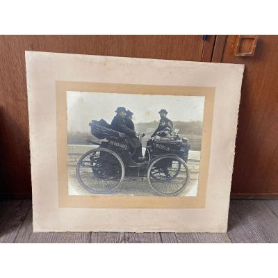 Rare Photo Pneumatiques Michelin Vers 1900