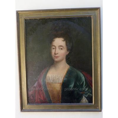 Adriaen Leprieur (xvii-xviiieme)attrib. Portrait De Femme.