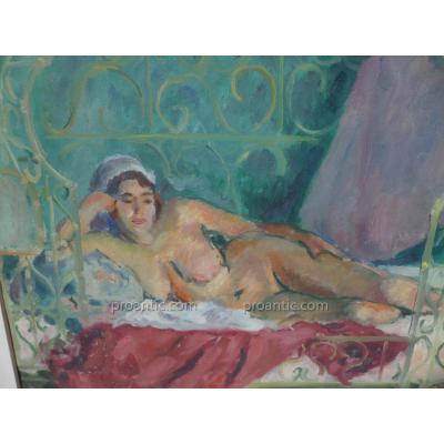 """Pierre Luc Rousseau (1899-1990) """"Femme Dans Le Harem"""" Hsp"""