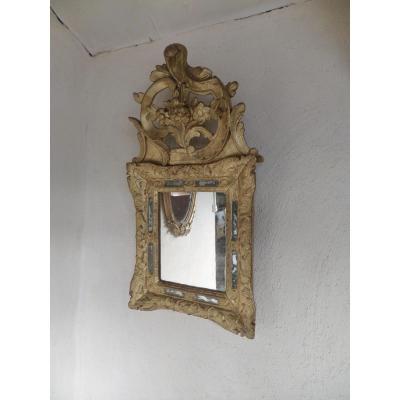 Miroir Avec Fronton Louis XIV