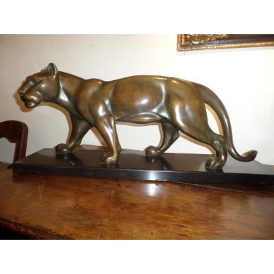 Panther En Bronze, Art Deco