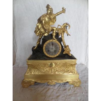 Pendule Charles X Bronze Dore