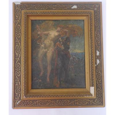 """Louis-Denis Valverane (1870-1943 """"La Baisser de la Victoire"""""""