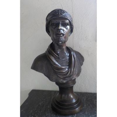Bronze Buste Orientaliste Vers 1900