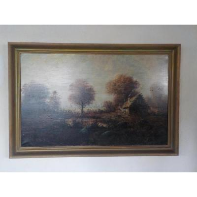 Rene Gourdon (ne 1855) Paysage.