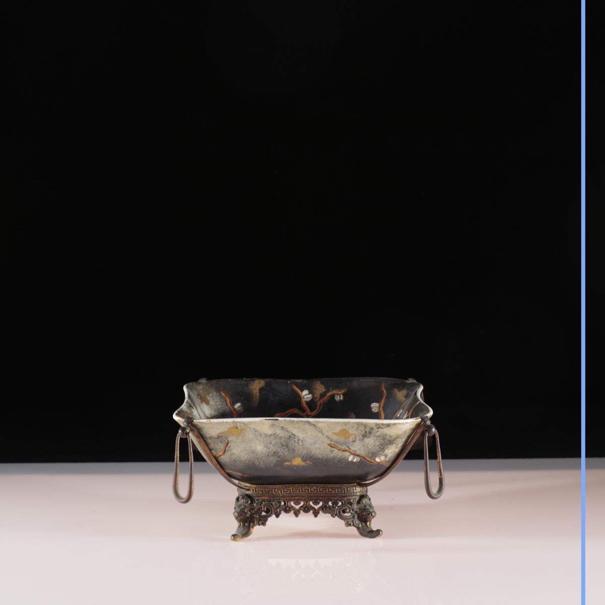Maison A.Giroux, Paris, coupe en porcelaine, XIXe