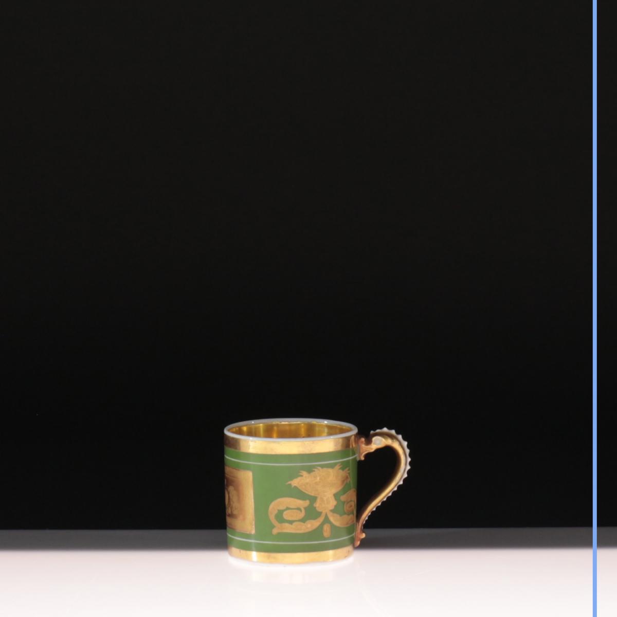 Tasse, solitaire, XIXe