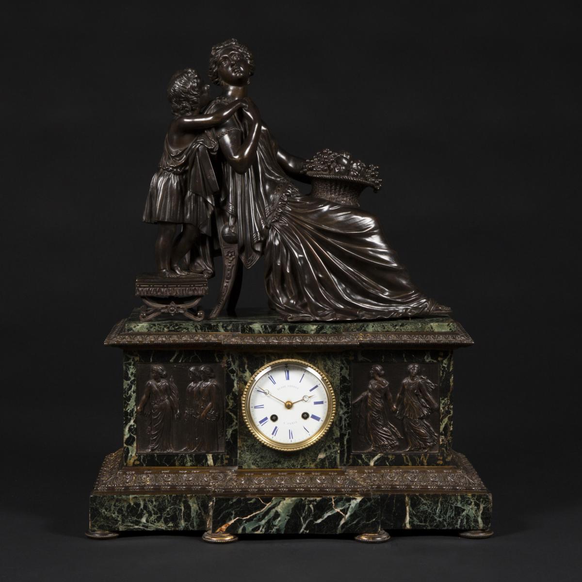 James Pradier (1790-1859), Pendule à la corbeille de fruits, XIXe