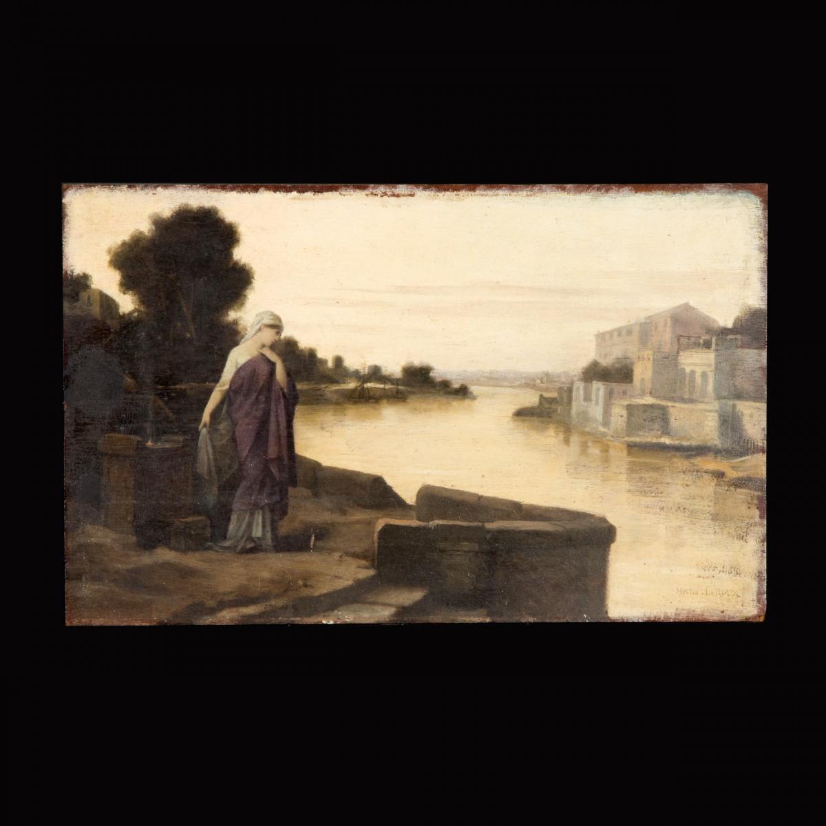Hector Leroux (1829-1900), huile sur panneau, XIXe