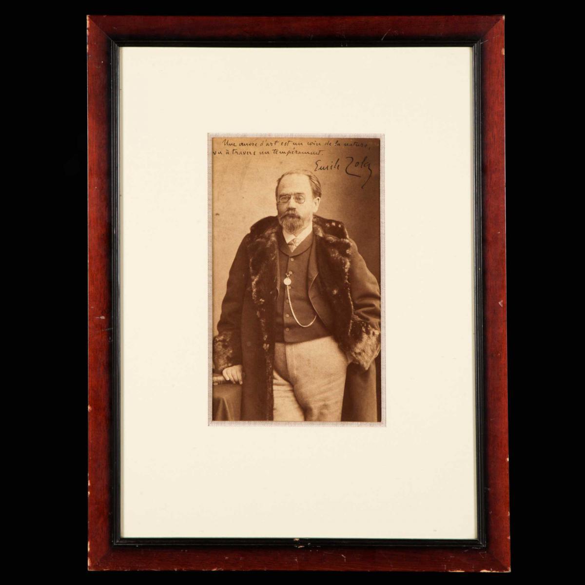Nadar (1820-1910), Portrait d'Émile Zola, XIXe