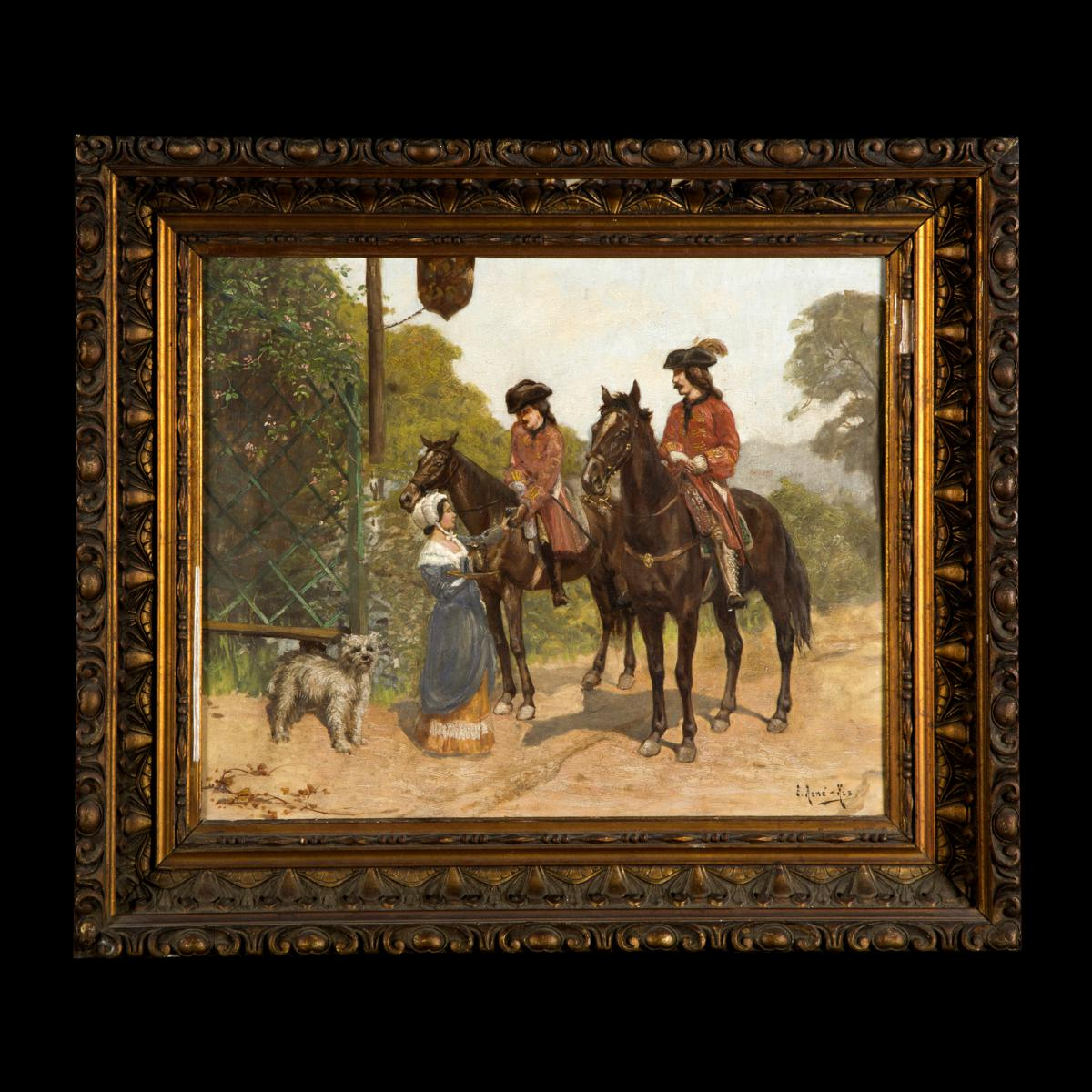 Charles Edmond René His (1877 - 1960), Soldats à Cheval