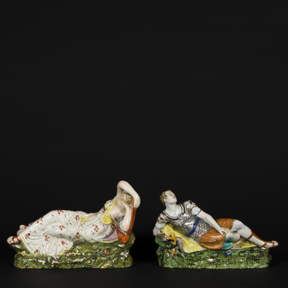 Cléopatre et Antoine, céramique, XIXe