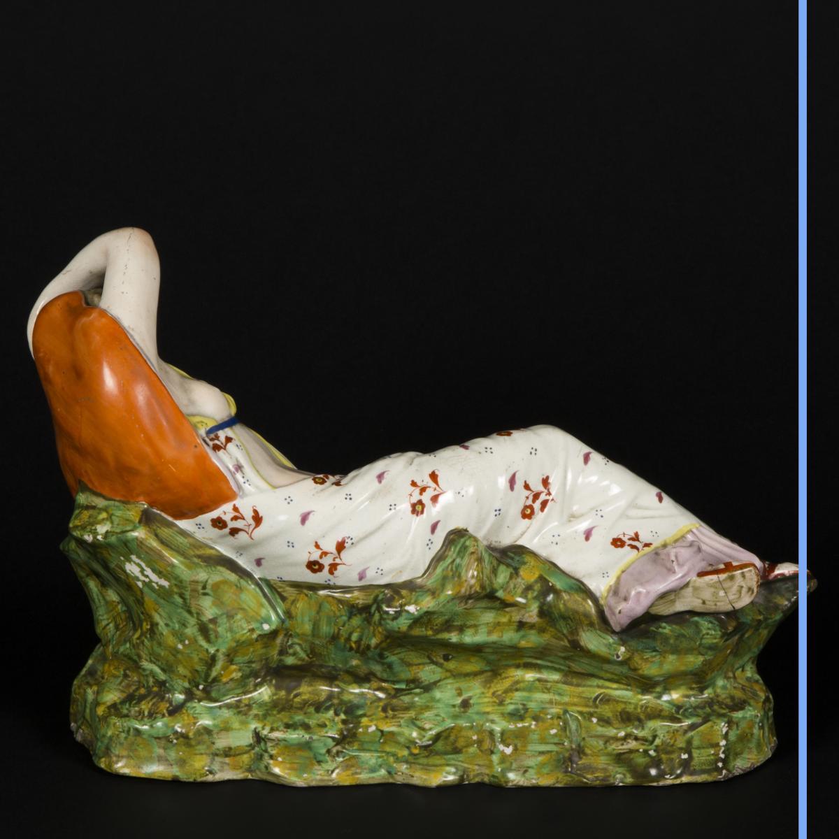 Cléopatre et Antoine, céramique, XIXe-photo-2