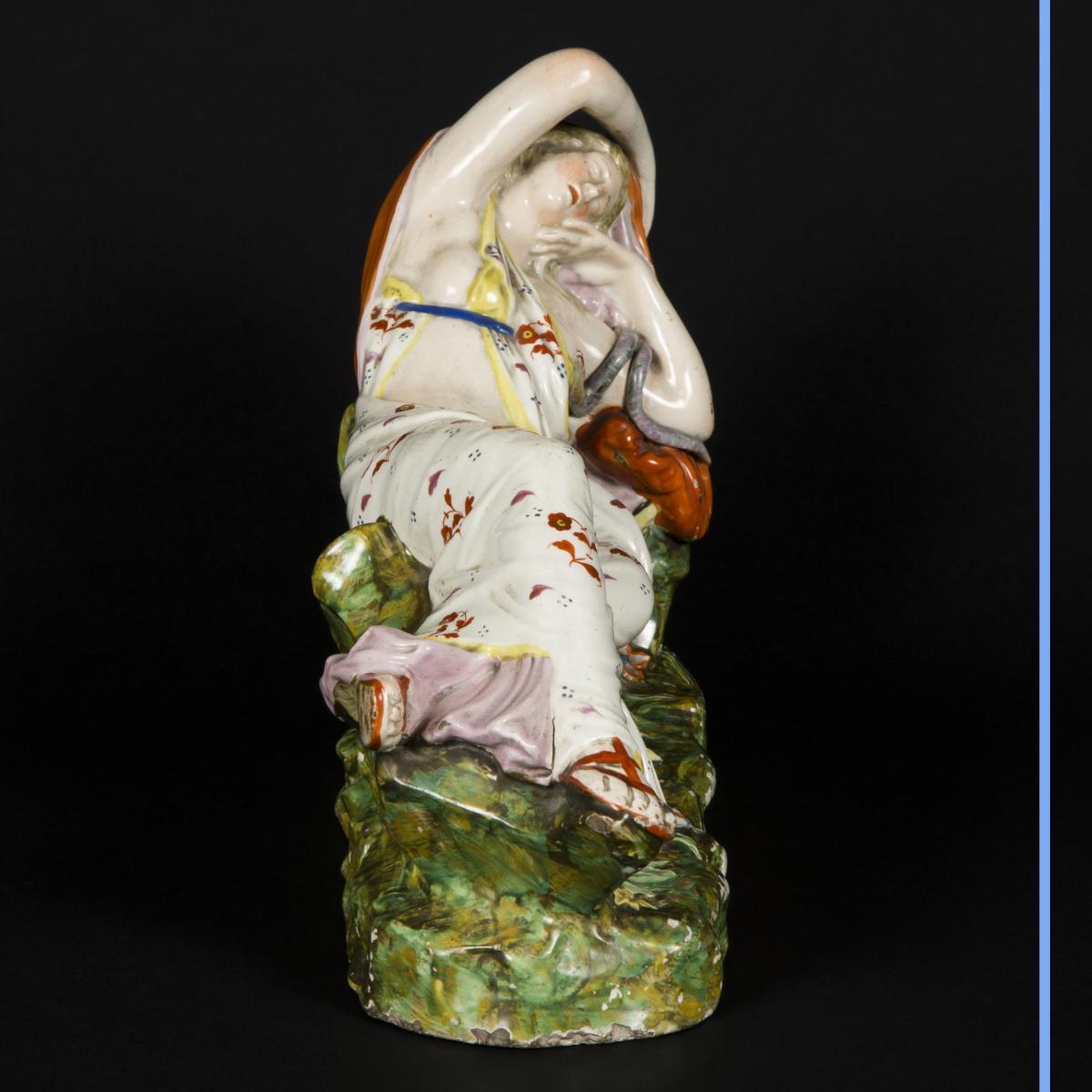 Cléopatre et Antoine, céramique, XIXe-photo-3