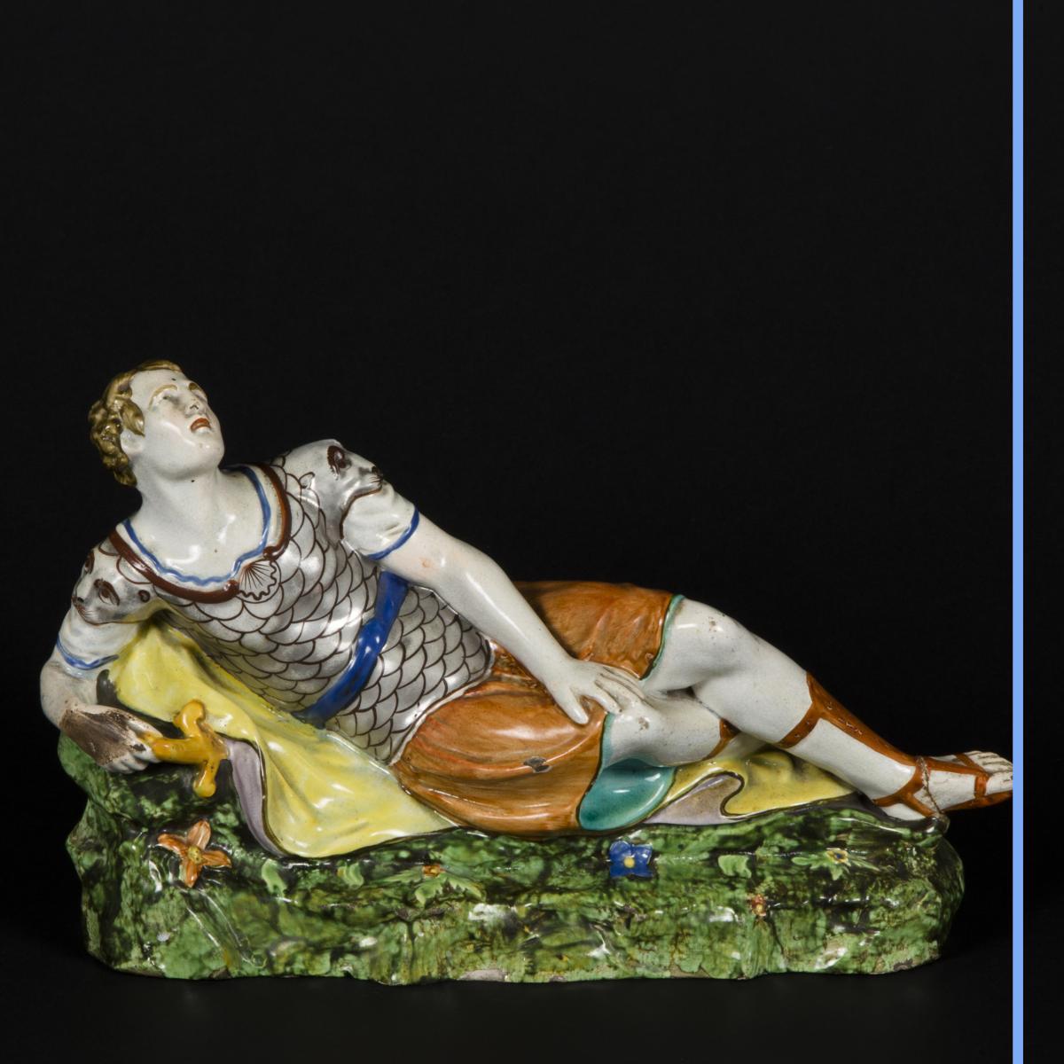 Cléopatre et Antoine, céramique, XIXe-photo-4