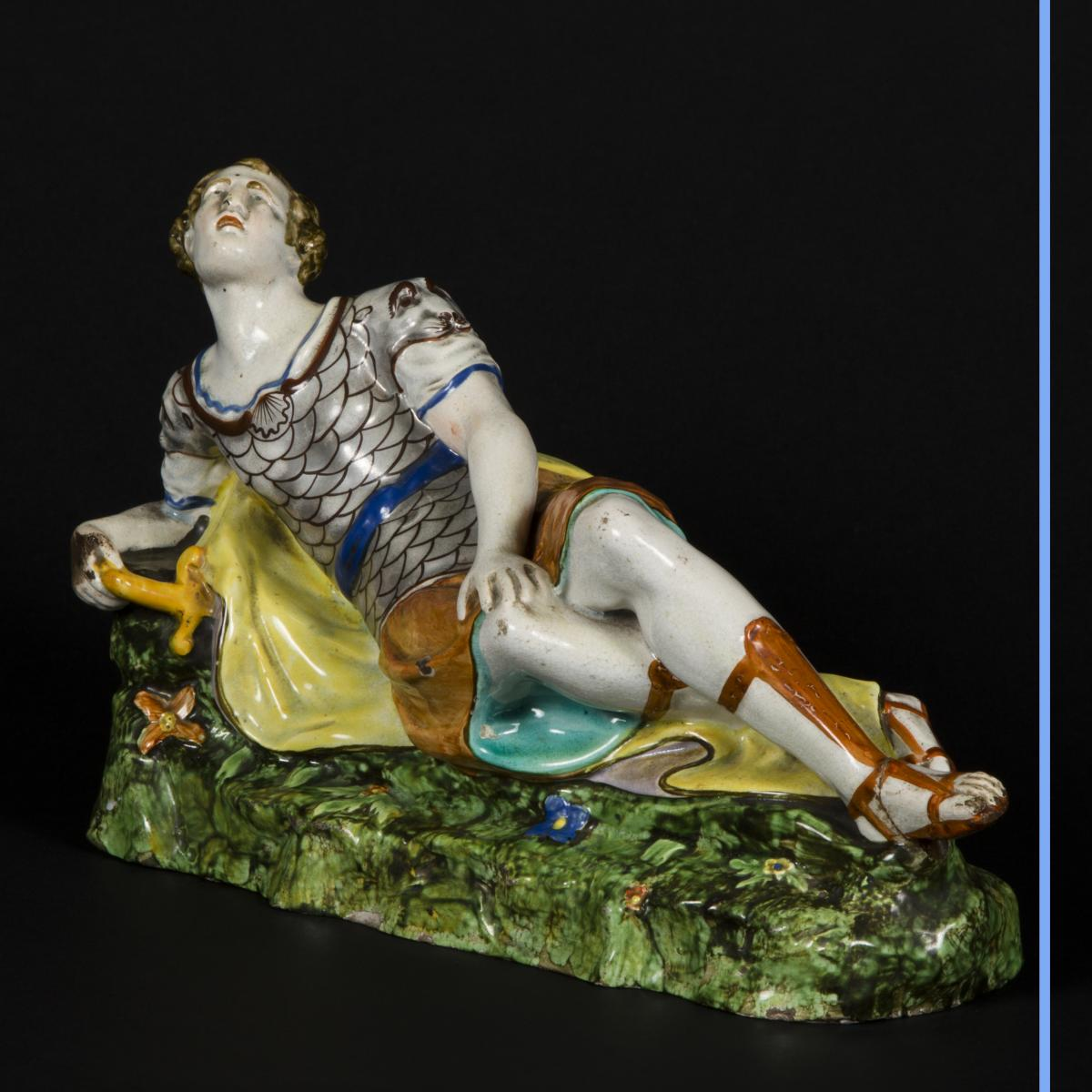 Cléopatre et Antoine, céramique, XIXe-photo-5