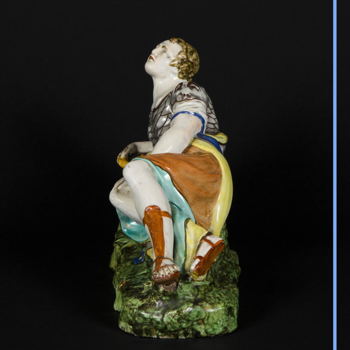 Cléopatre et Antoine, céramique, XIXe-photo-6
