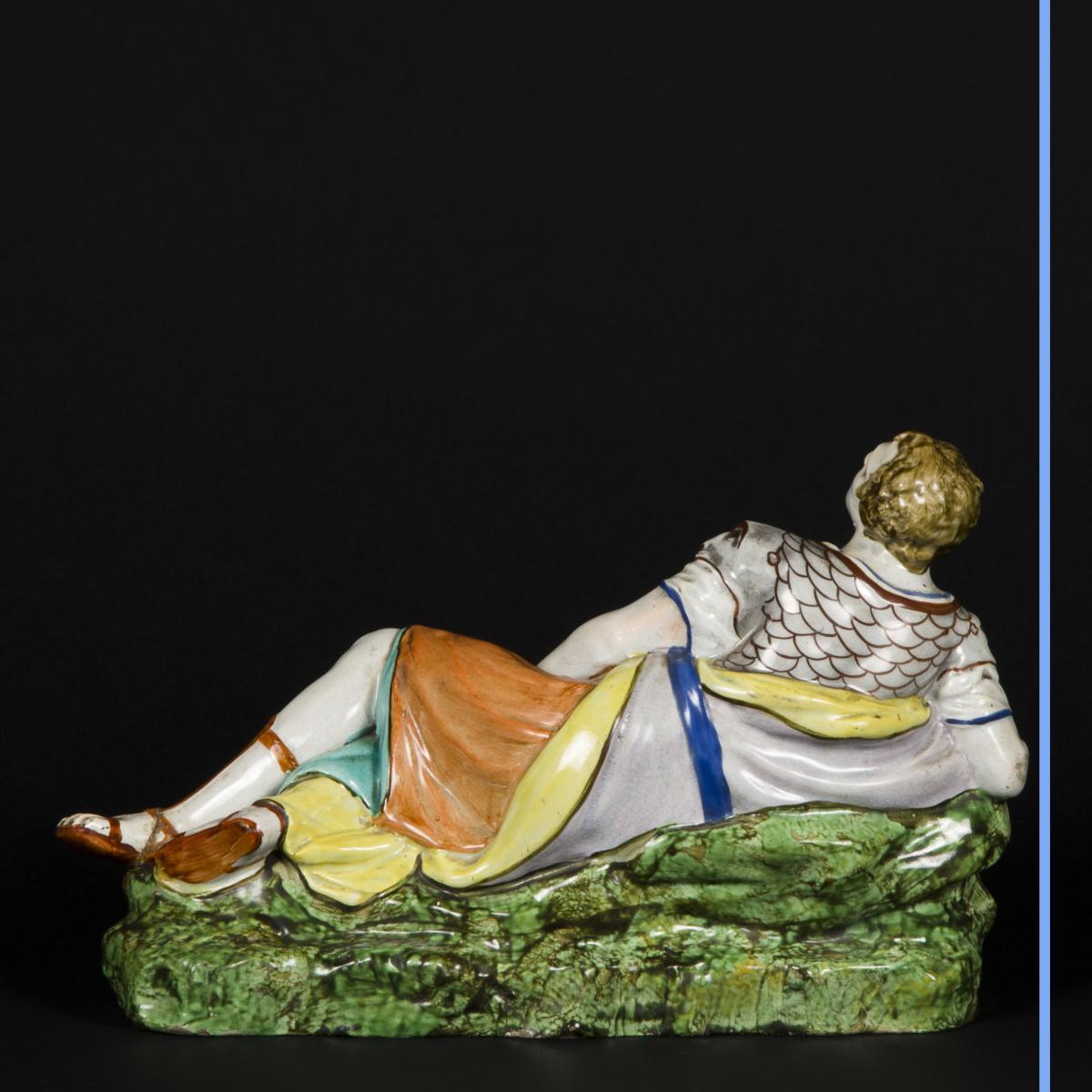 Cléopatre et Antoine, céramique, XIXe-photo-7