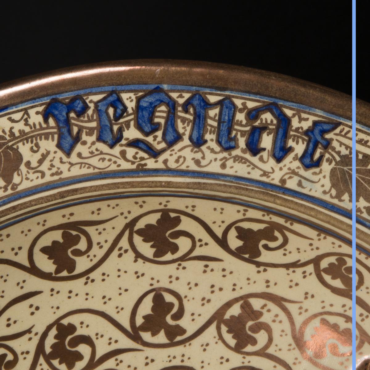 Plat en porcelaine, XIXe-photo-3