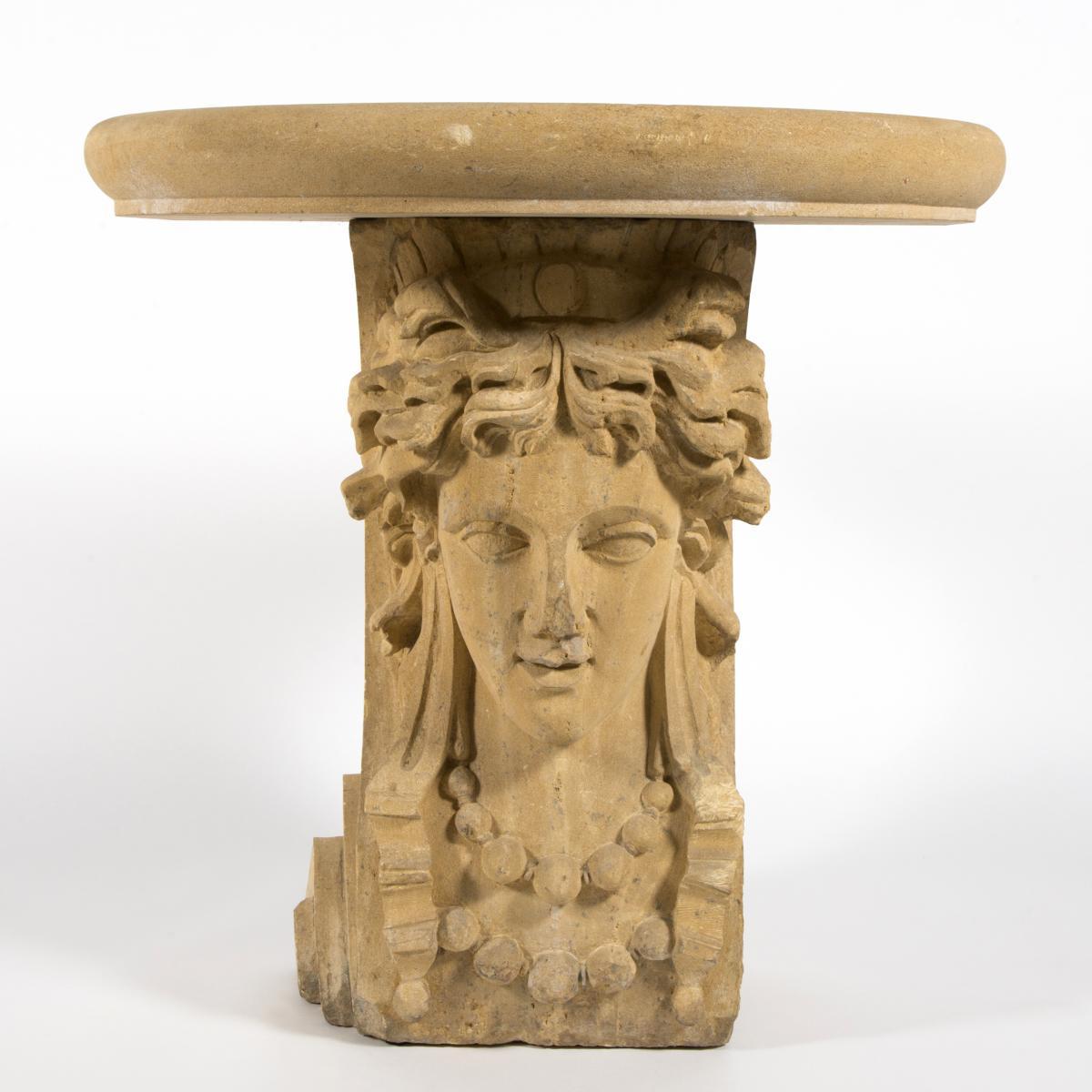 "Console en pierre ""Cariatide"", XIXe"