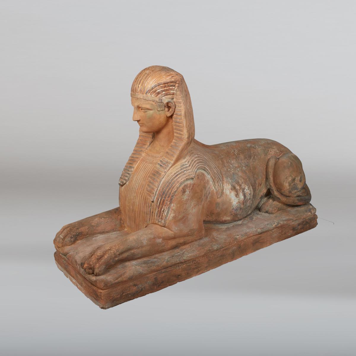 Sphinx en terre cuite, XIXe