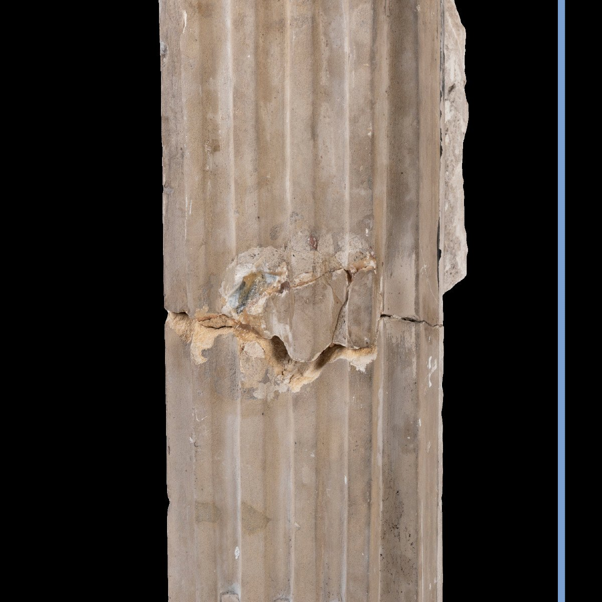 Cheminée en pierre sculpté à décor de spirales et de cannelures, XIXe-photo-6