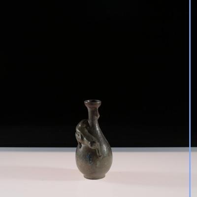 """Charles Louis Eugène Virion (1865-1946), Vase """"Le chat"""", XXe"""