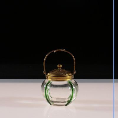 Bonbonnière en cristal et bronze, XIXe
