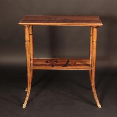 Emile Gallé (1846 - 1904), table à thé, XIXe