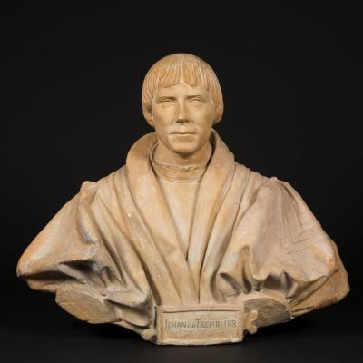 Terre cuite, Buste de Jehan du Tremblier, XIXe