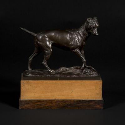 """Bronze """"chien"""", Cisterne, XIXe"""