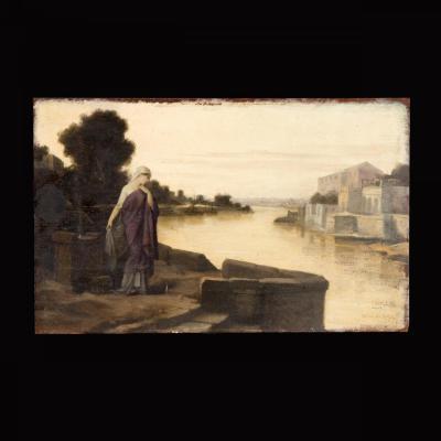 Huile Sur Bois, Hector Leroux (1829-1900)