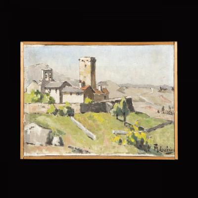 Paire de Paysages, Huile sur toile, Mt Guérin, XXe