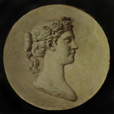 """Piat Joseph Sauvage (1744 – 1818), huile sur toile """"Athéna"""""""