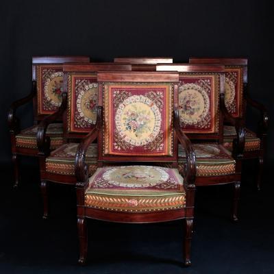 Salon d'époque Restauration, XIXe