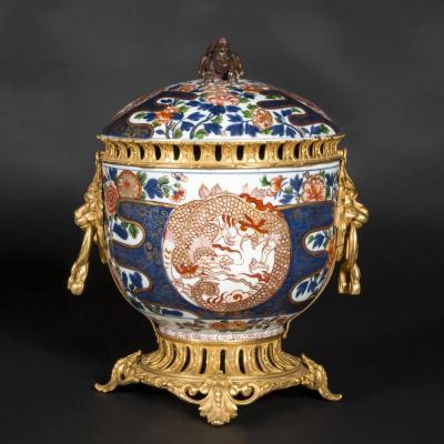 Pot-pourri Imari En Porcelaine Et Monture En Bronze, XIXe