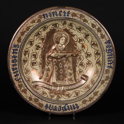 Plat en porcelaine, XIXe