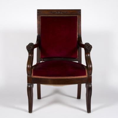 Fauteuil de bureau d'époque restauration, XIXe