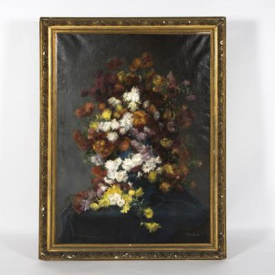 Alice Jacob (1879 - ?), Bouquet De Chrysanthèmes, XXe