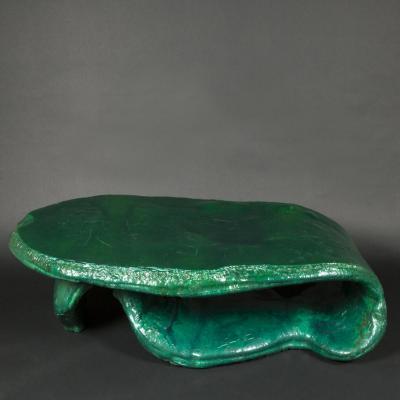 """Louis Durot (1939-) """"Langue mise à table"""", table, XXe"""