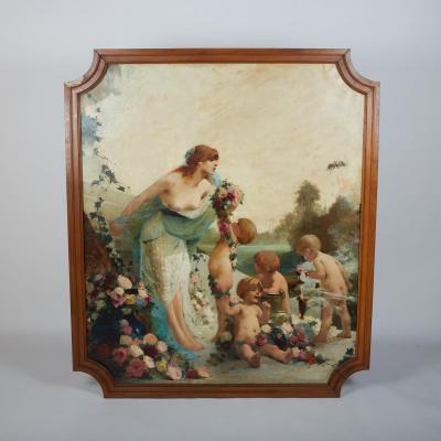 Georges Picard (1857-1946), Huile sur toile, Le Printemps, X