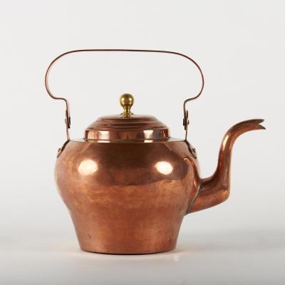 Bouilloire en cuivre, fin XIXe - début XXe