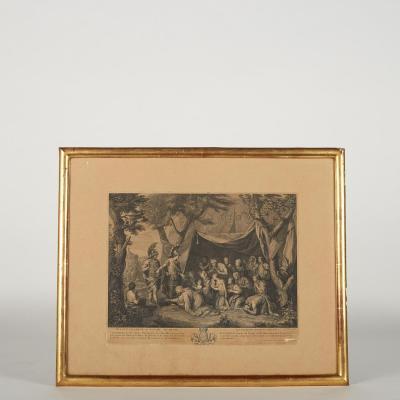 Série de sept gravures d'après Charles Le Brun, XIXe