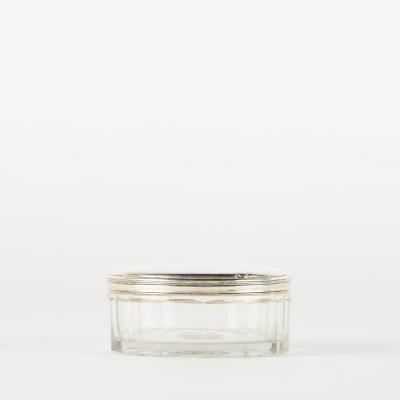Bonbonnière en verre et argent, première moitié XXe