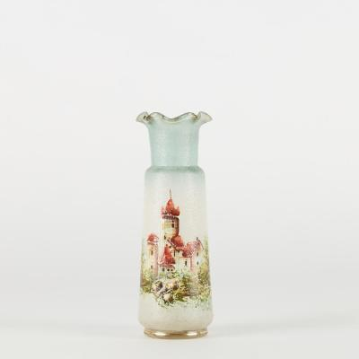 Vase en verre peint main, XXe